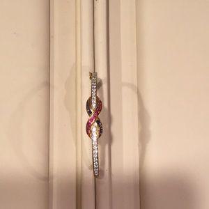 Bracelet sterling silver with 14k Gold overlay